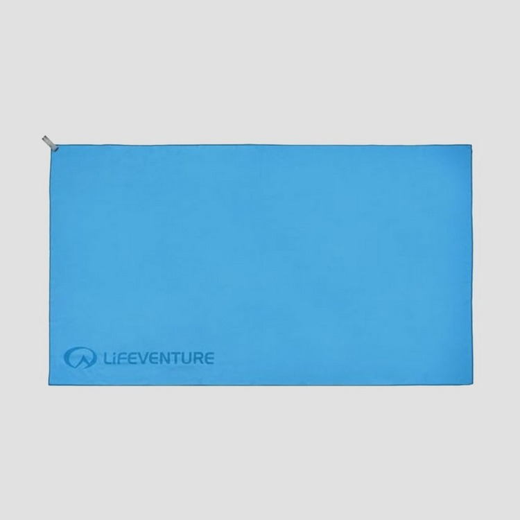 LIFEVENTURE S-FIBRE LIGHT TRAVEL HANDDOEK LARGE BLAUW