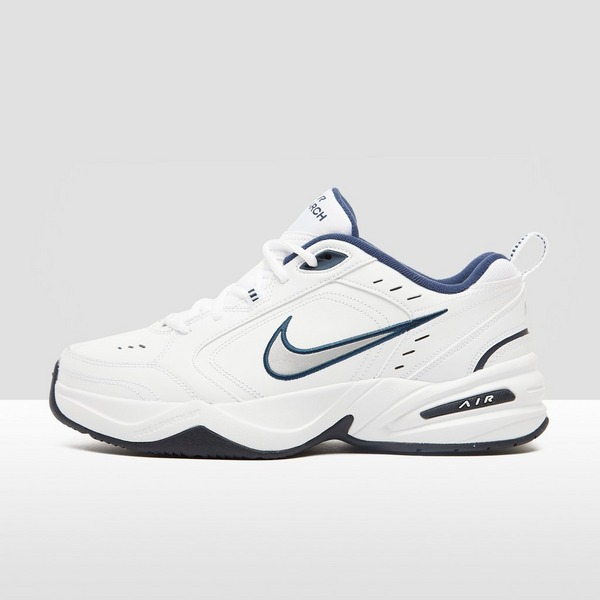 NIKE CHUNKY AIR MONARCH IV SNEAKERS WIT/BLAUW HEREN