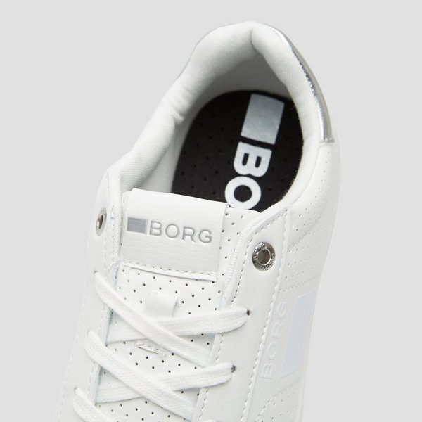 BJORN BORG T307 LOW SNEAKERS WIT/ZILVER DAMES