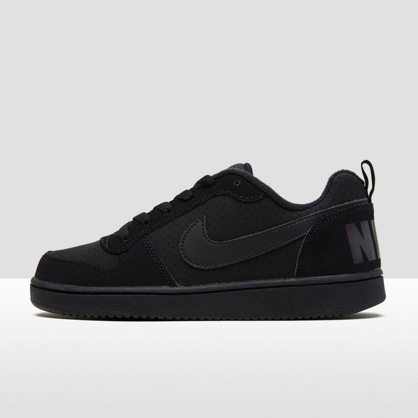 NIKE COURT BOROUGH LOW SNEAKERS ZWART JONGENS | Perrysport
