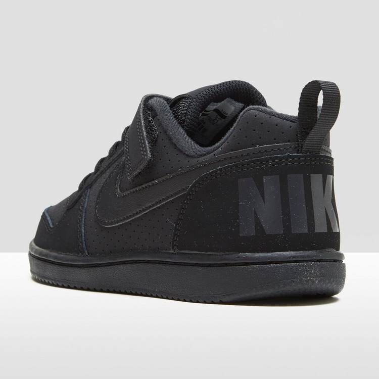 NIKE COURT BOROUGH LOW ZWART JONGENS
