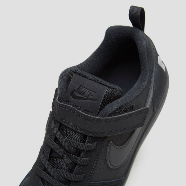 NIKE COURT BOROUGH LOW ZWART JONGENS | Perrysport