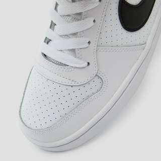 NIKE COURT BOROUGH LOW SNEAKERS WIT/ZWART KINDEREN
