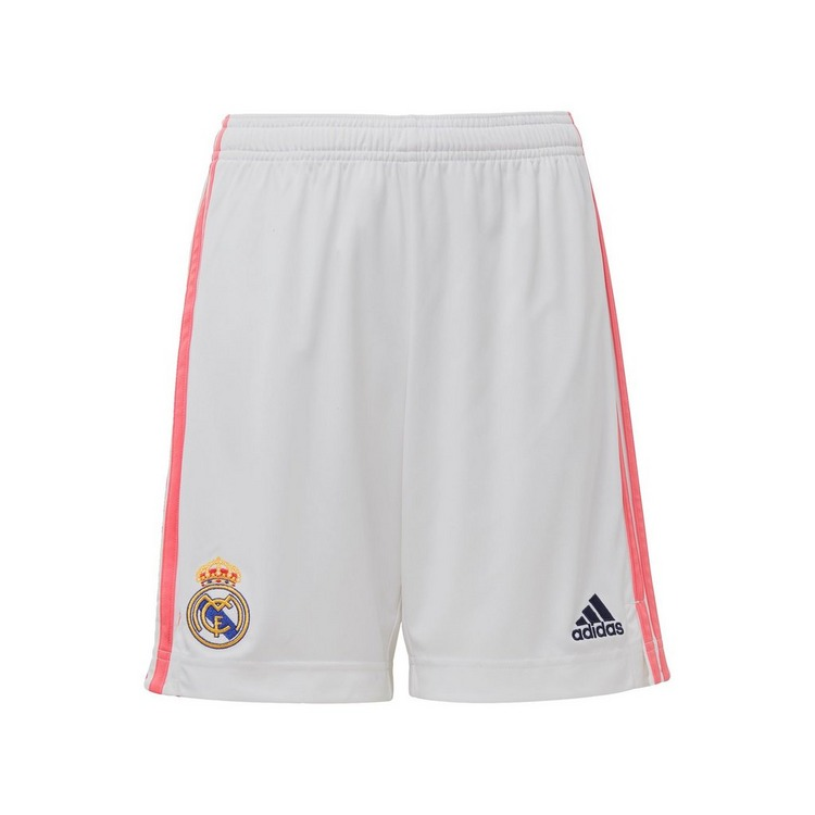 ADIDAS REAL MADRID 20/21 THUISSHORT WIT KINDEREN