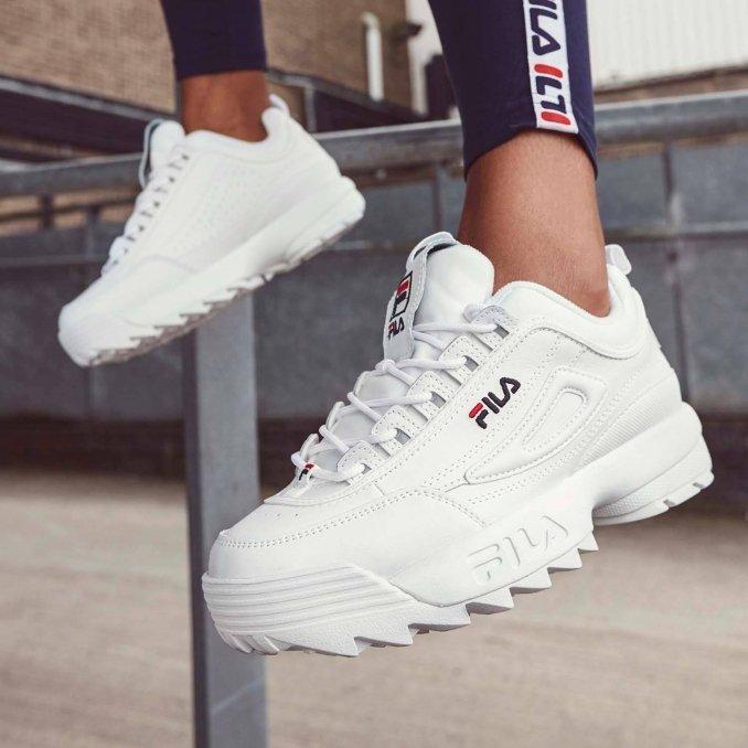 zapatillas Fila Disruptor blancas para mujer