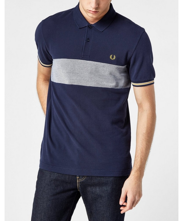 b80a8a52 Fred Perry Oxford Panel Pique Polo Shirt | scotts Menswear