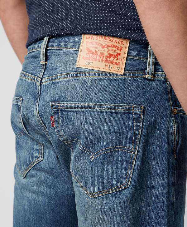 97caf0ac60e Levis 501 Straight Fit Hook Jeans | scotts Menswear