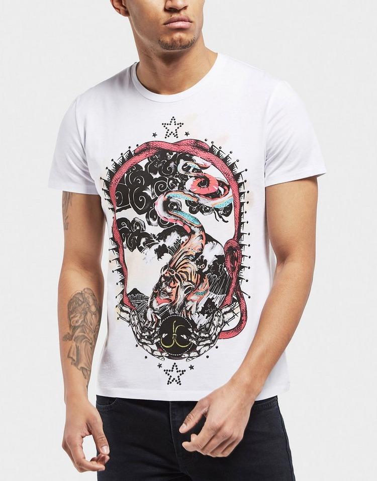 Just Cavalli Tiger Cloud Short Sleeve T-Shirt