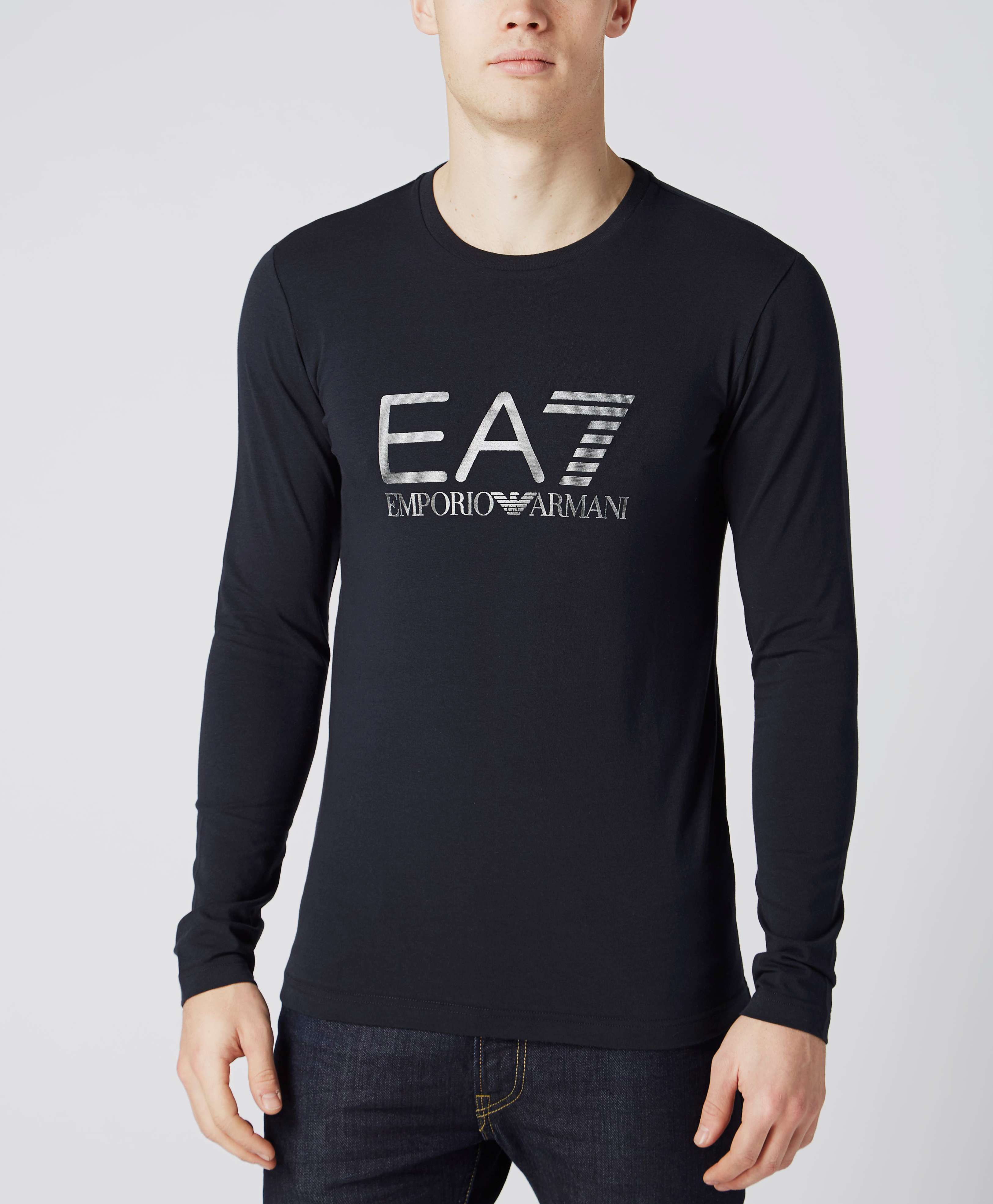 b447f9d2 Emporio Armani EA7 Long Sleeve Logo T-Shirt | scotts Menswear