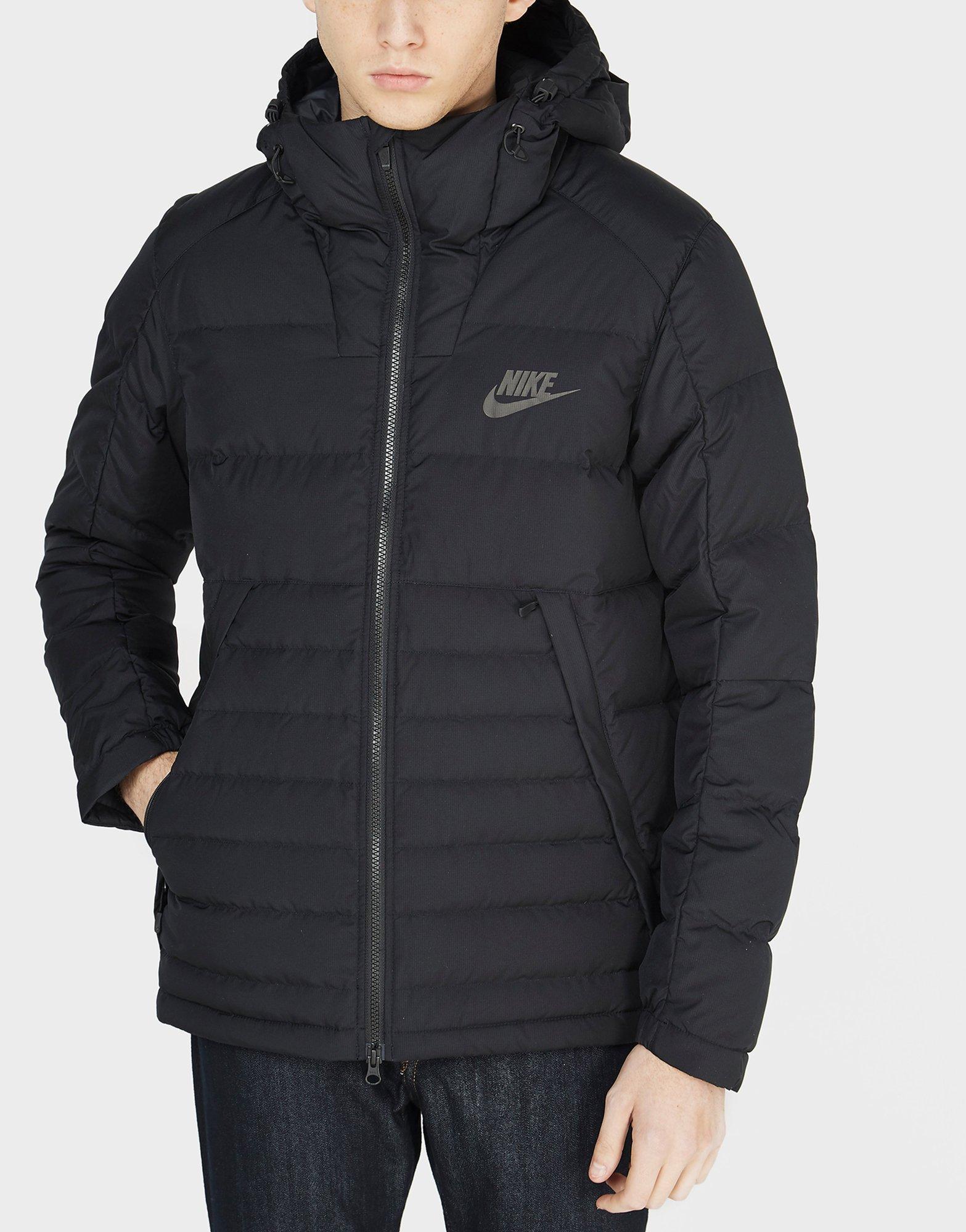 nike padded down jacket black