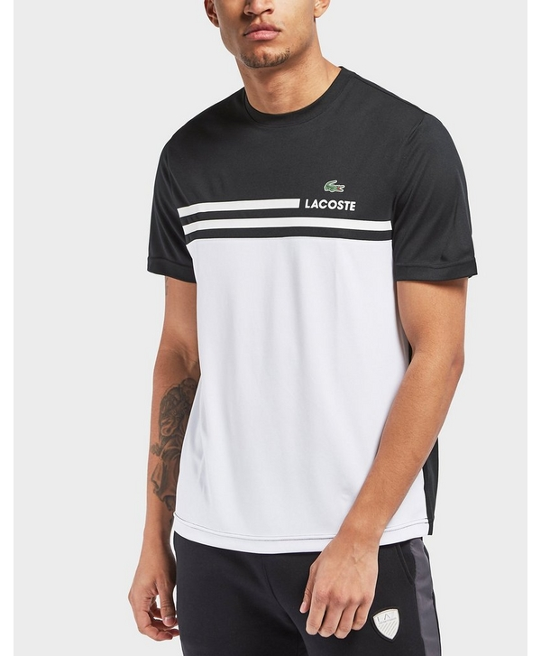 c6868ab05 Lacoste Colourblock Line Short Sleeve T-Shirt   scotts Menswear