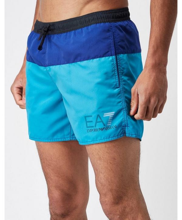 54be96992eeab Emporio Armani EA7 Colour Block Swim Shorts | scotts Menswear