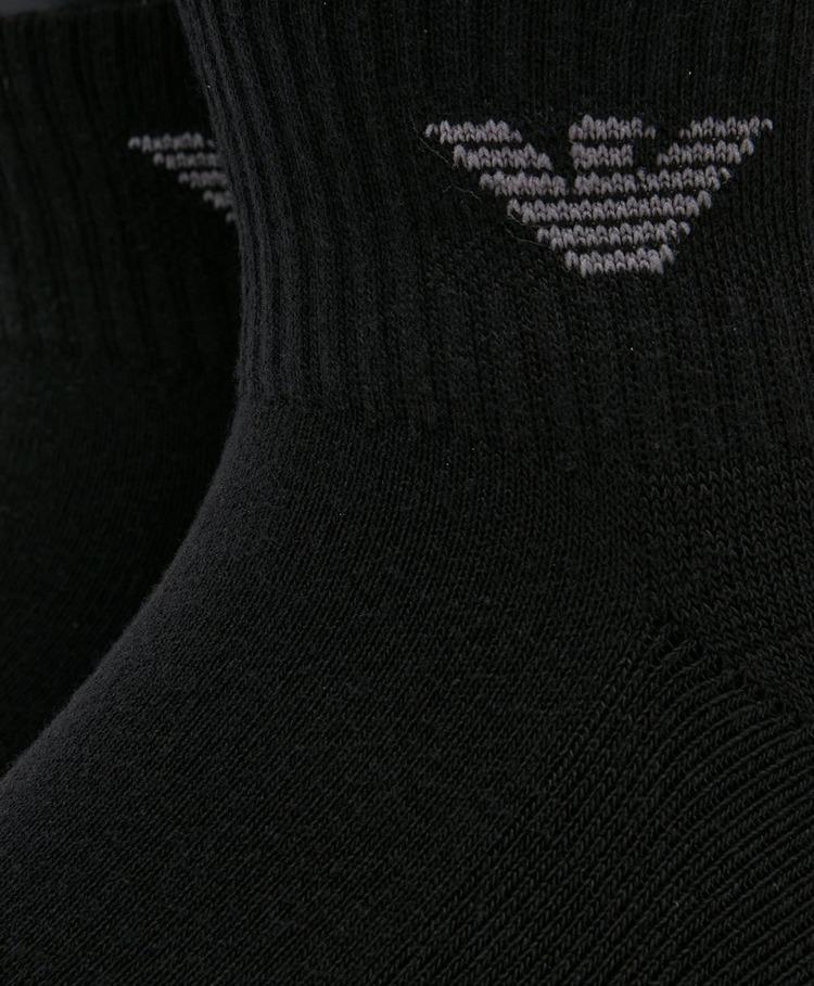 Emporio Armani Loungewear 3-Pack Eagle Ankle Socks