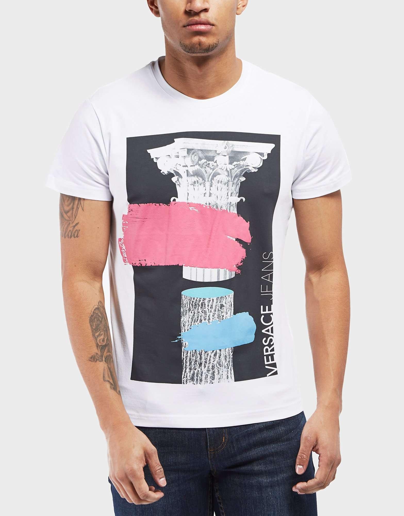 Versace Jeans Paint Splash Short Sleeve T-Shirt