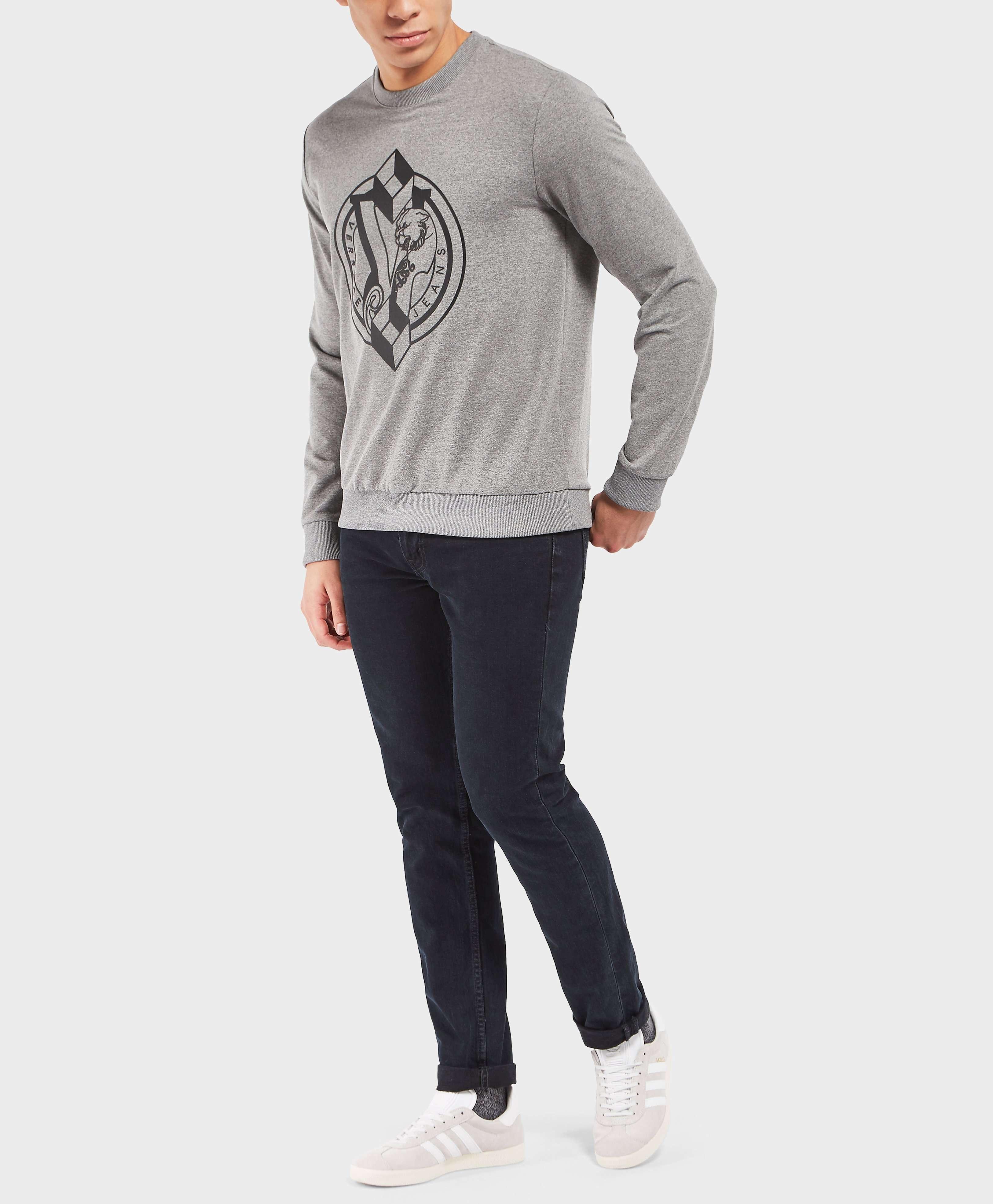 Versace Jeans Geometric Logo Crew Sweatshirt