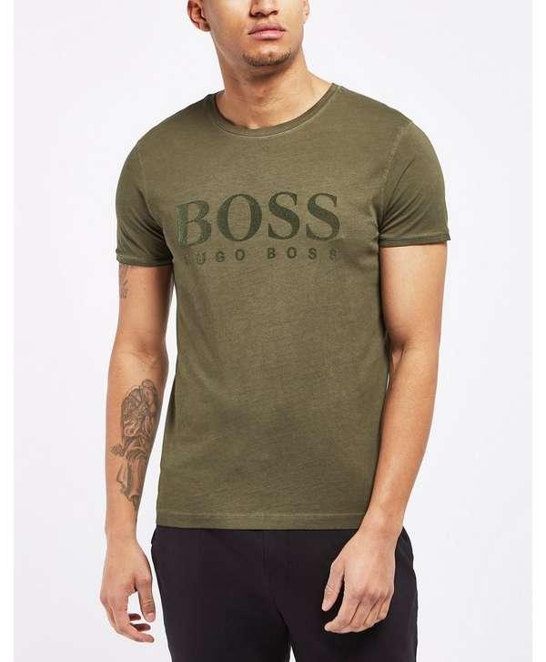 BOSS Tomlouis Flock Short Sleeve T-Shirt