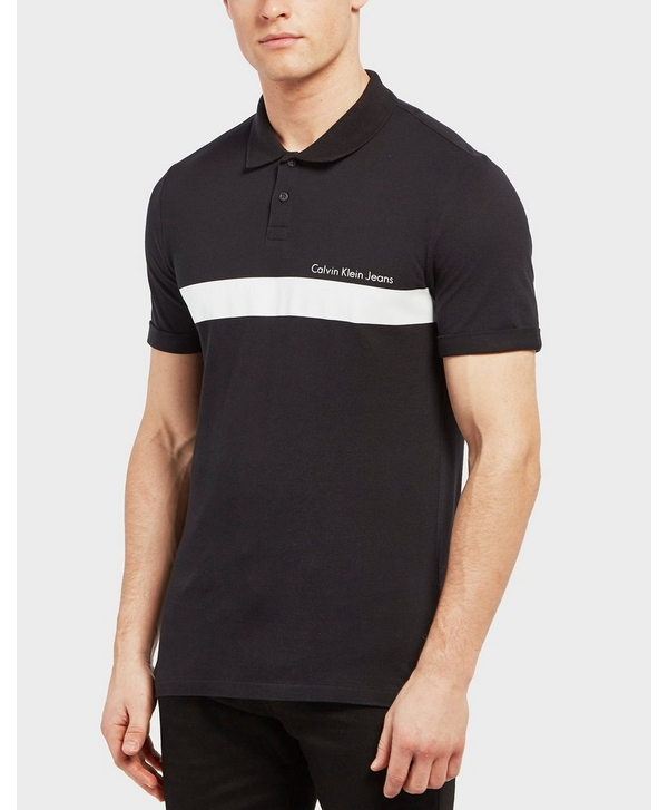 d6d081a41 Calvin Klein Pertolis Block Short Sleeve Polo Shirt | scotts Menswear