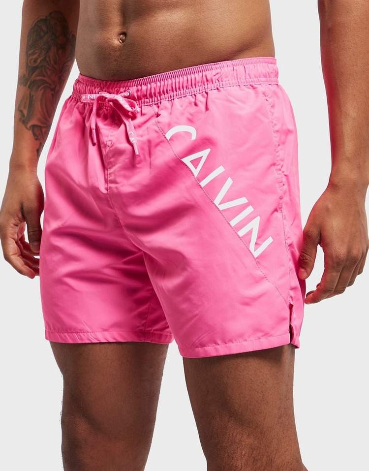 Calvin Klein Angle Branded Swim Shorts - Online Exclusive