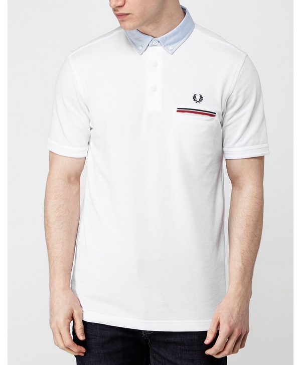 3761f44b7 Fred Perry Woven Collar Oxford Polo Shirt