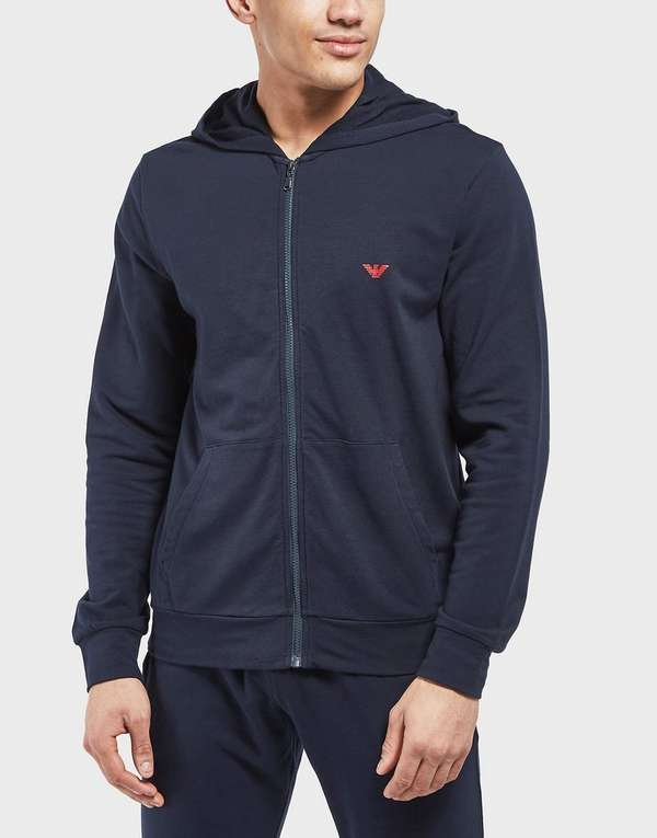 Emporio Armani Shiny Eagle Back Full Zip Hoodie