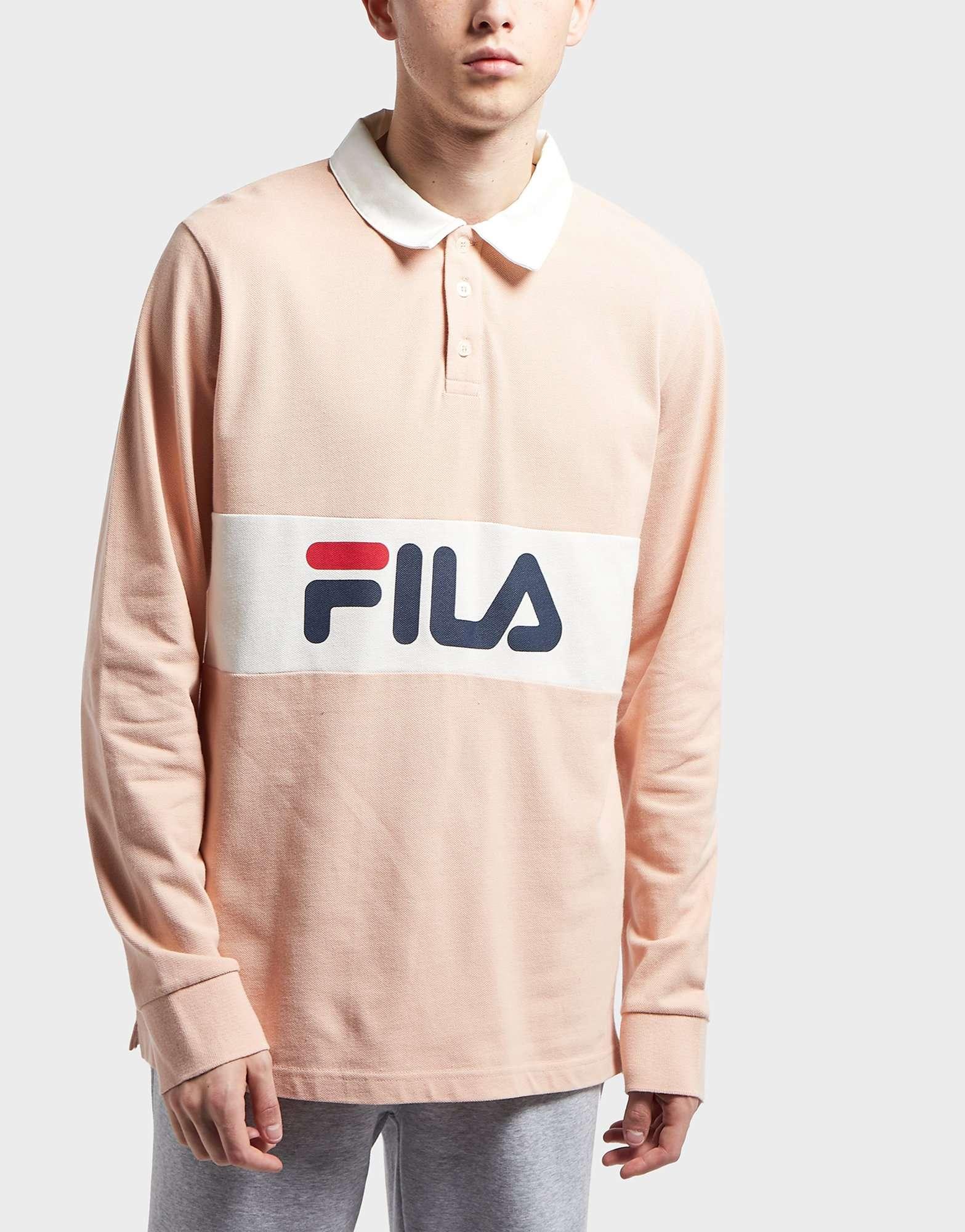Fila Uragan Long Sleeve Polo Shirt - Exclusive | scotts Menswear