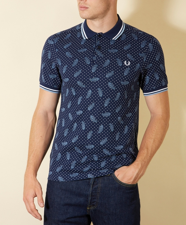 27fb49427 Fred Perry x Drakes Paisley Polka Dot Polo Shirt