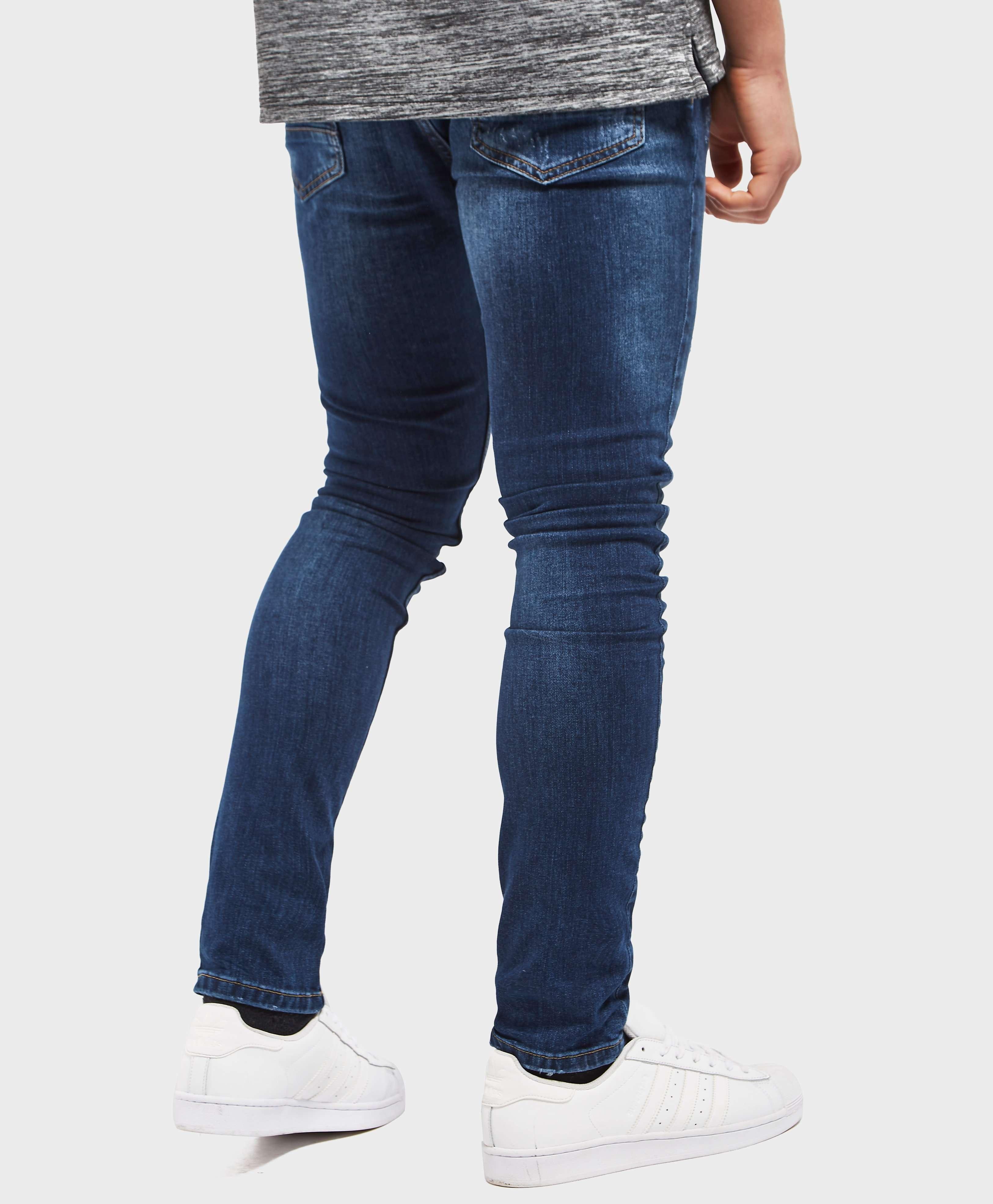 One True Saxon Rip Repair Skinny Jeans - Exclusive