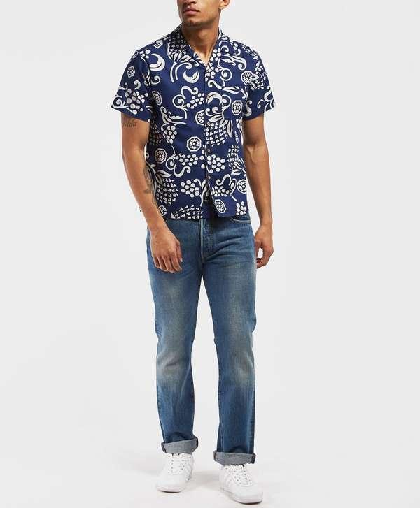 Replay Floral Print Short Sleeve Shirt