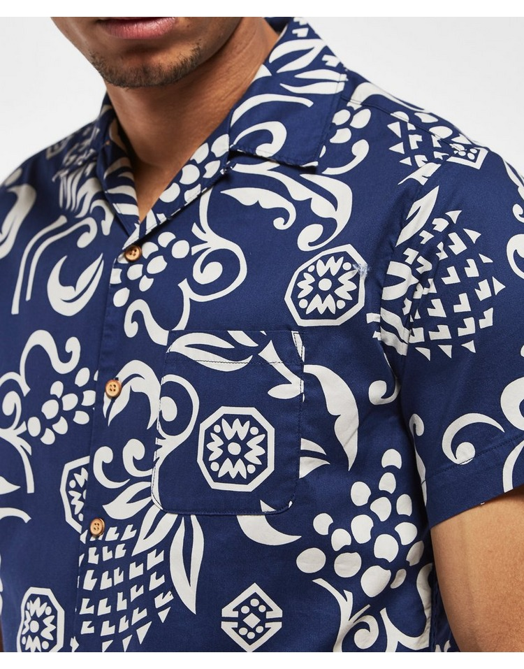 Replay Floral Print Short Sleeve Shirt