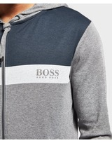 BOSS Colour Block Marl Full Zip Hoodie