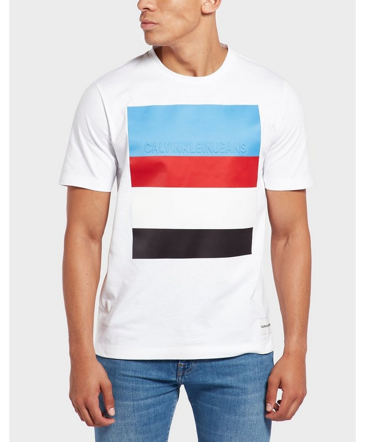Calvin Klein Stripe Logo Short Sleeve T-Shirt