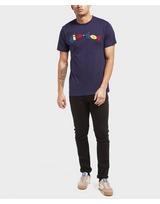 Gio Goi Multi Textured Logo Short Sleeve T-Shirt