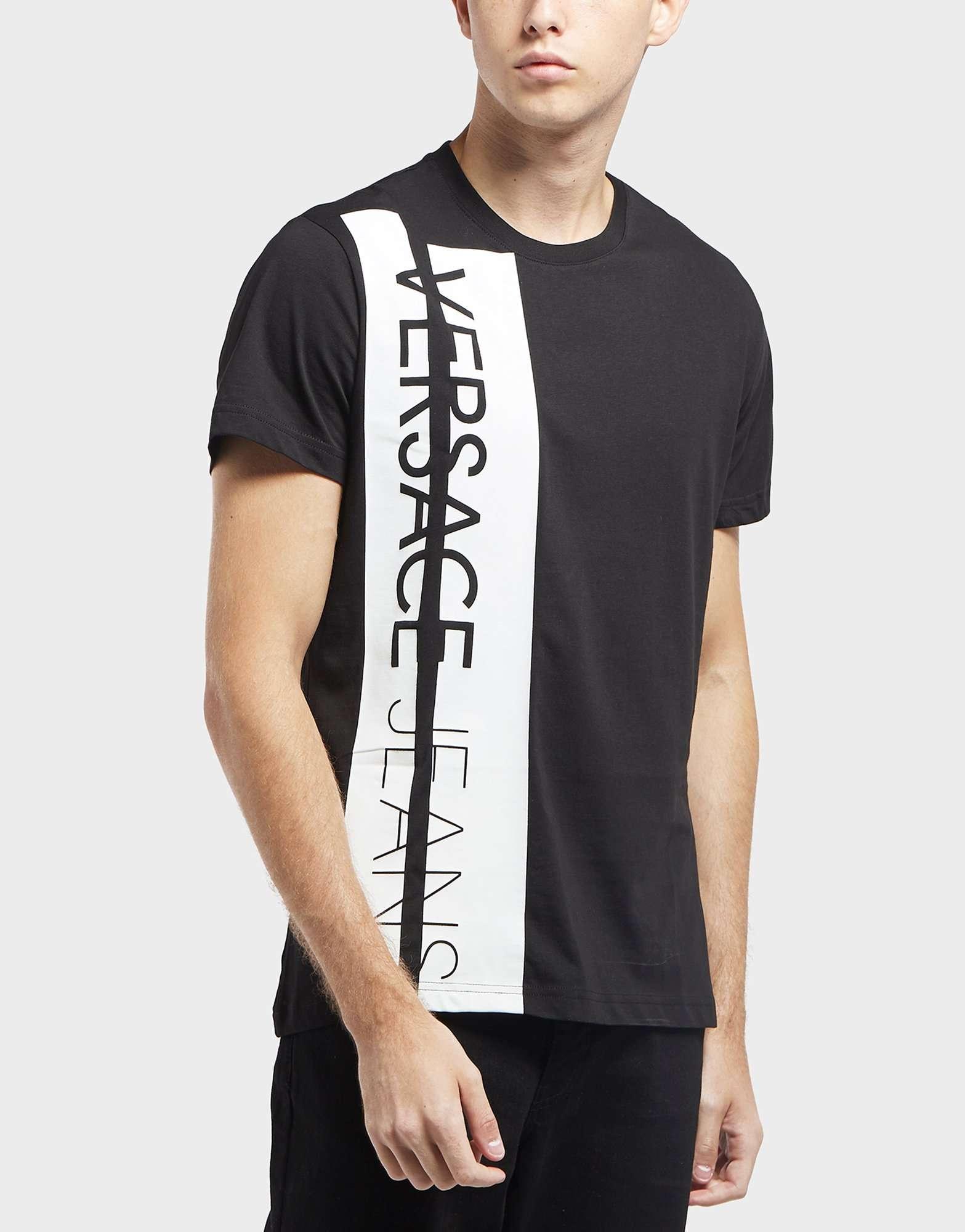 Versace Jeans Strip Logo Short Sleeve T-Shirt