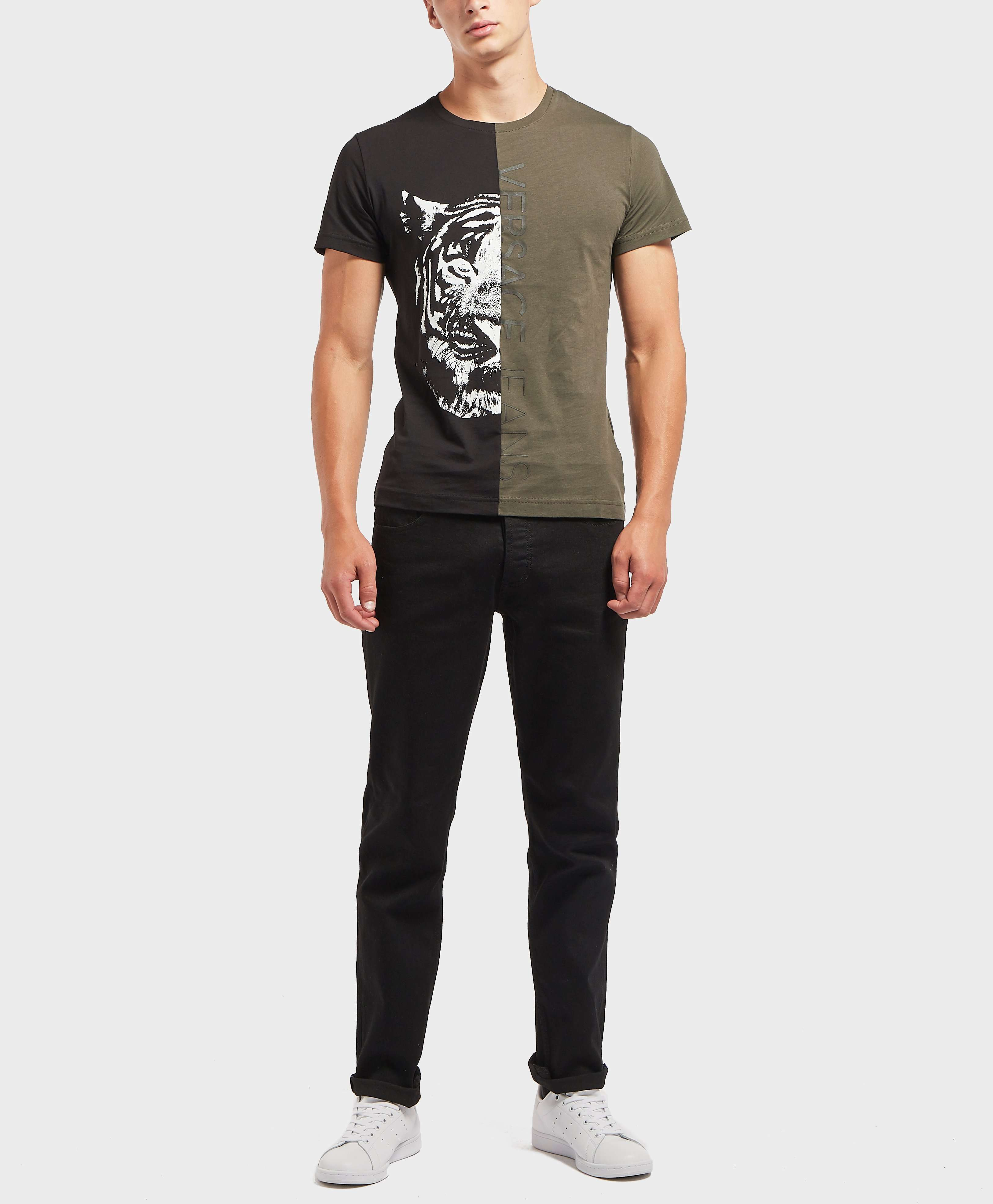 Versace Jeans Half Tiger Short Sleeve T-Shirt