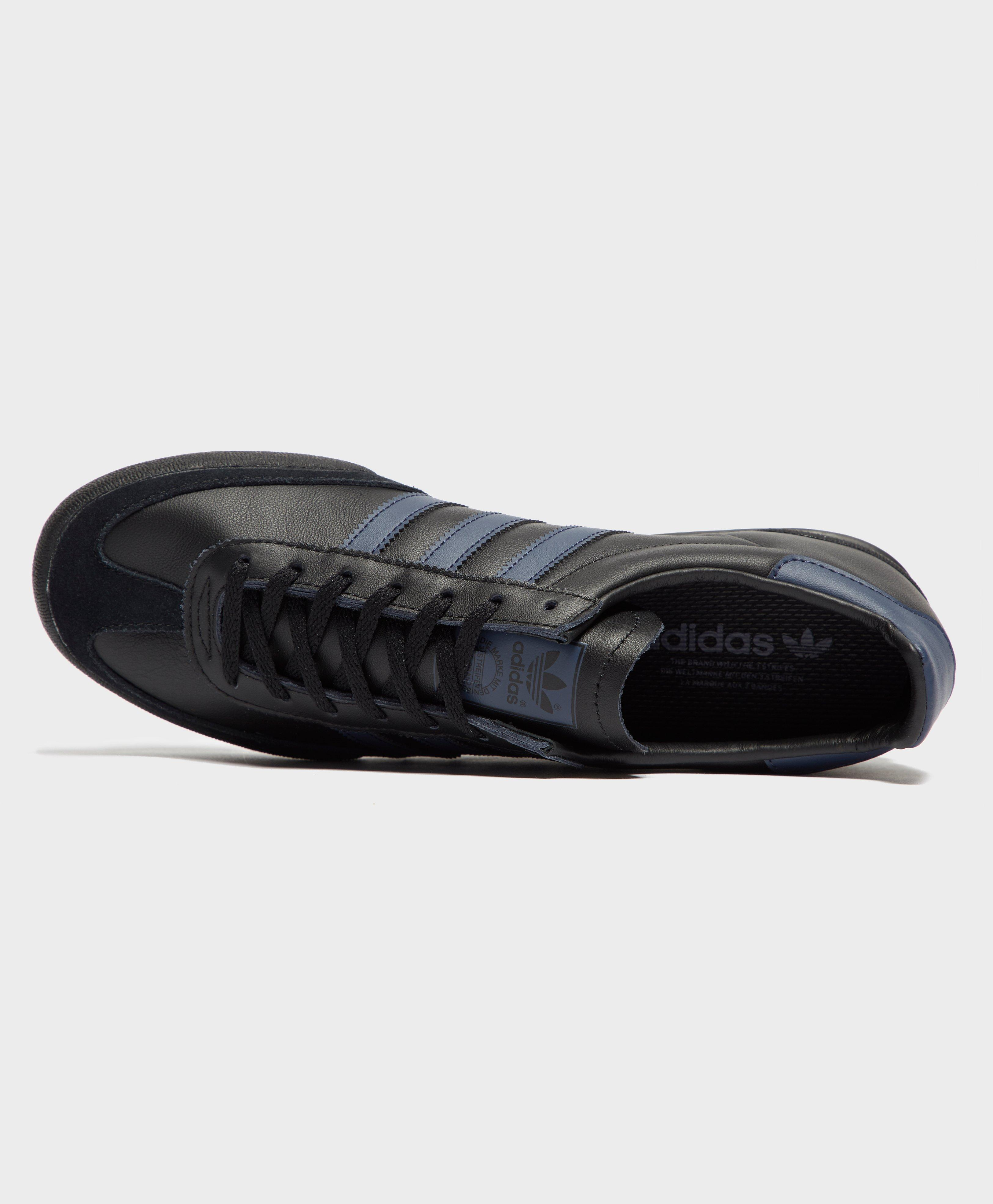 adidas jeans leather black