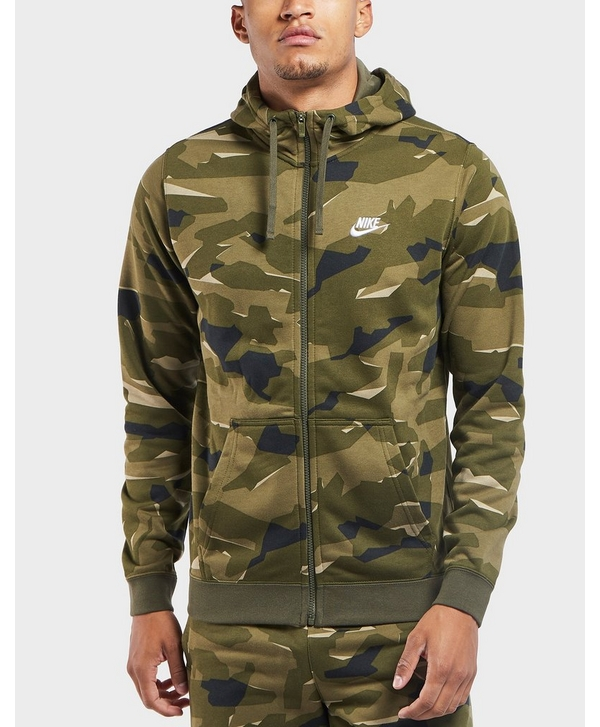 newest 54ce8 08bac Nike Club Camo Full Zip Hoodie   scotts Menswear