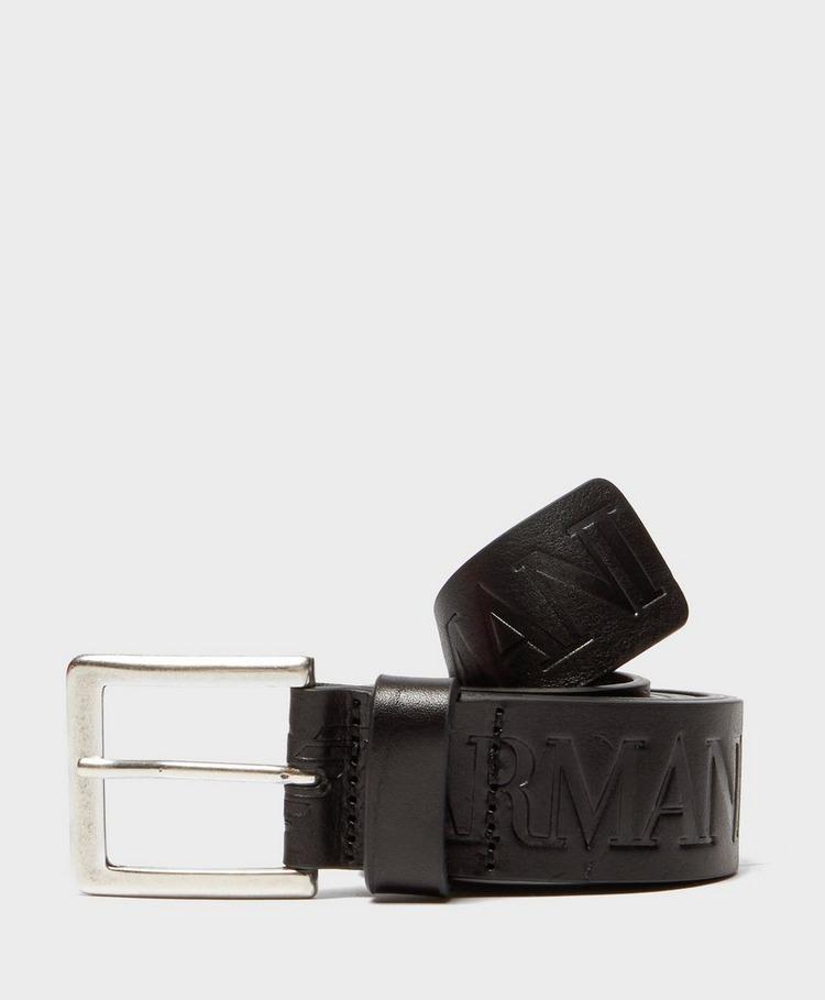 Emporio Armani Leather Eagle Belt
