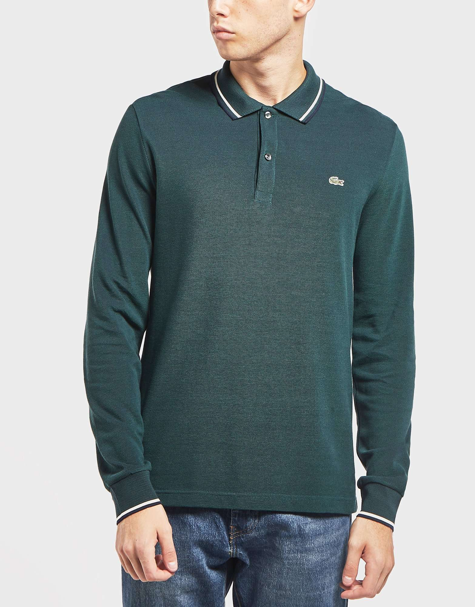 Lacoste Beye Tipped Long Sleeve Polo Shirt