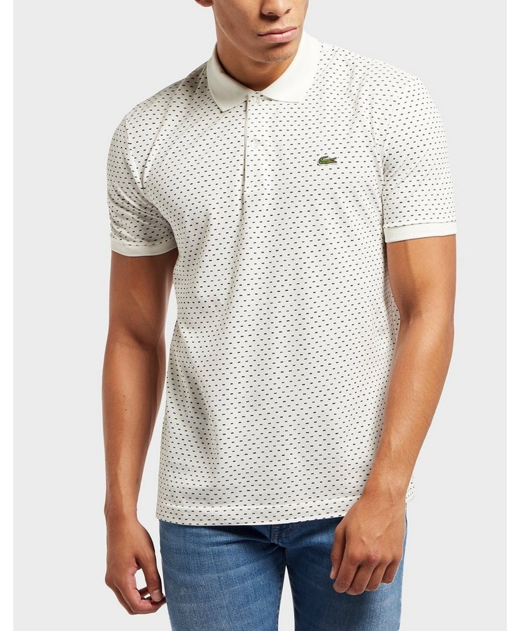 Lacoste All Over Dash Print Short Sleeve Polo Shirt