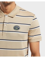 Lacoste Vintage Logo Short Sleeve Stripe Polo Shirt
