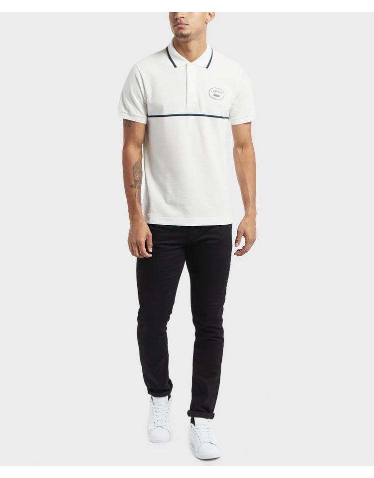 Lacoste Vintage Logo Tipped Short Sleeve Polo Shirt