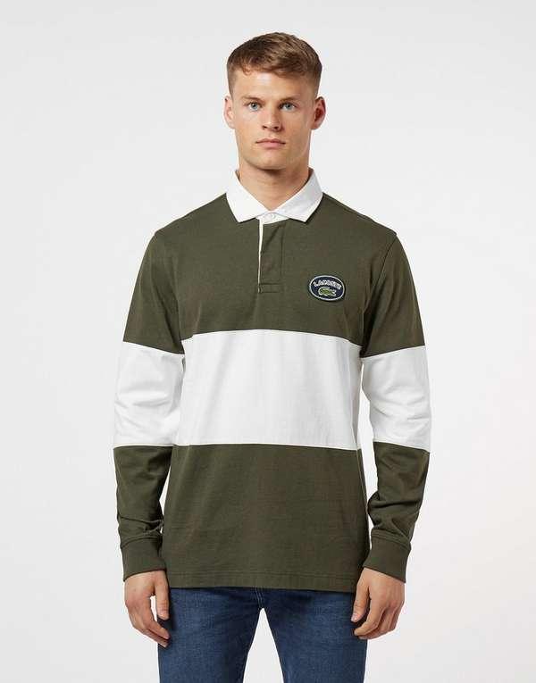 c68b0cc6 Lacoste Rugby Block Long Sleeve Polo Shirt | scotts Menswear
