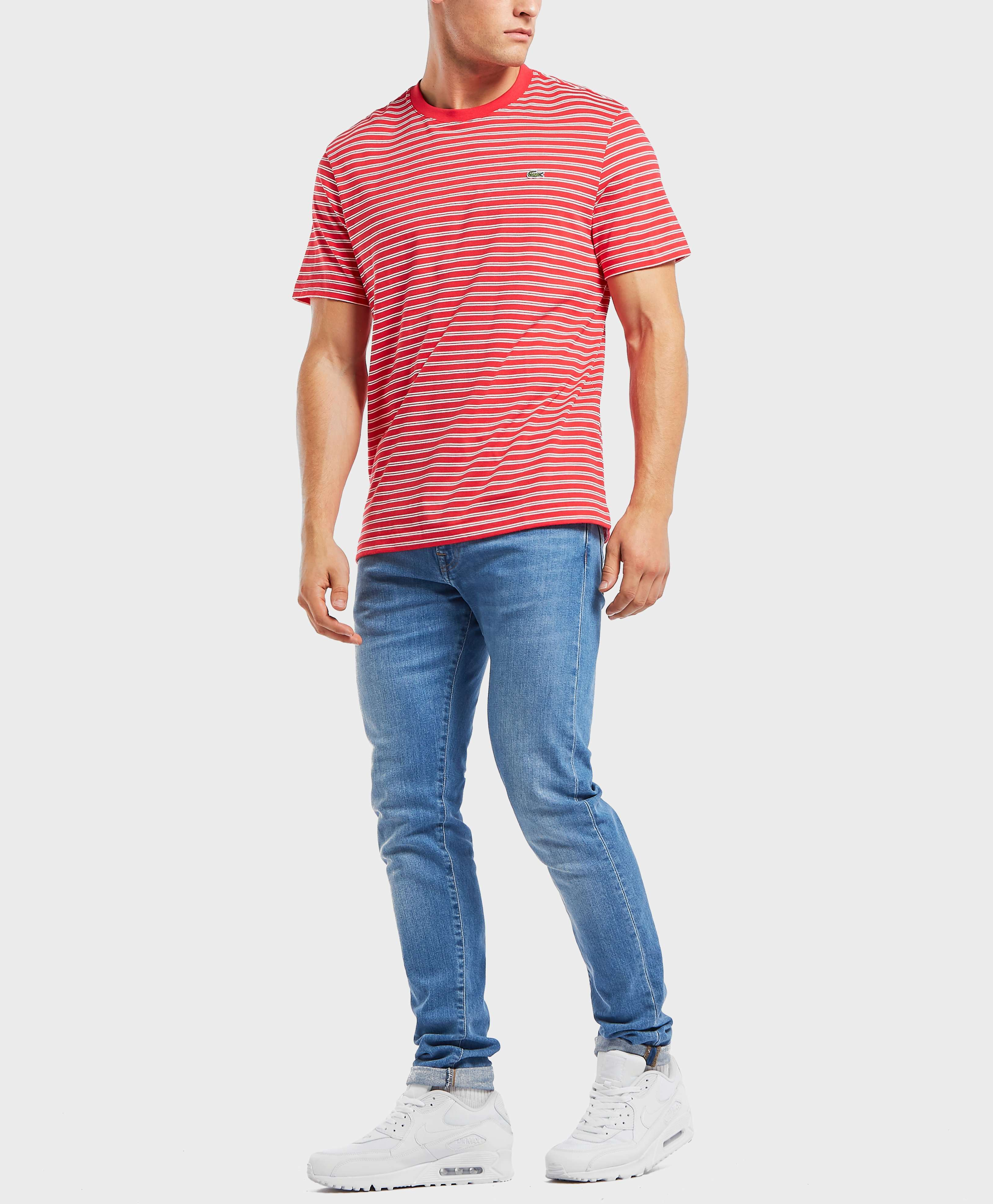 Lacoste Stripe Jersey Short Sleeve T-Shirt