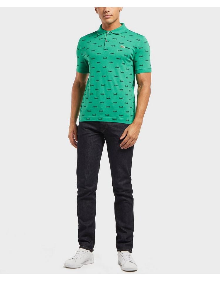 Lacoste All Over Logo Short Sleeve Polo Shirt