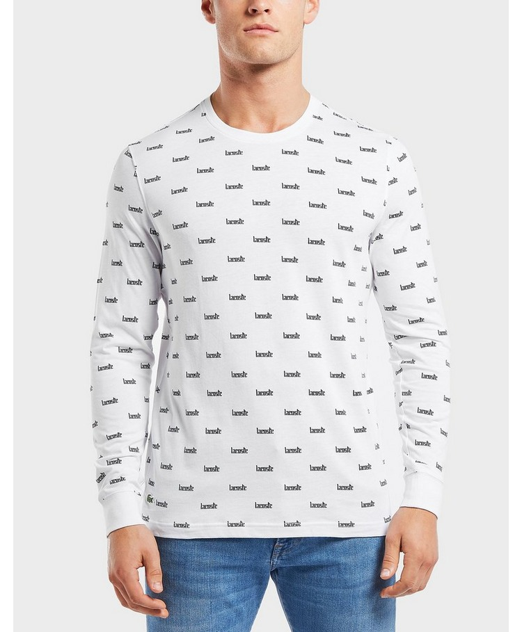 Lacoste All Over Logo Long Sleeve T-Shirt