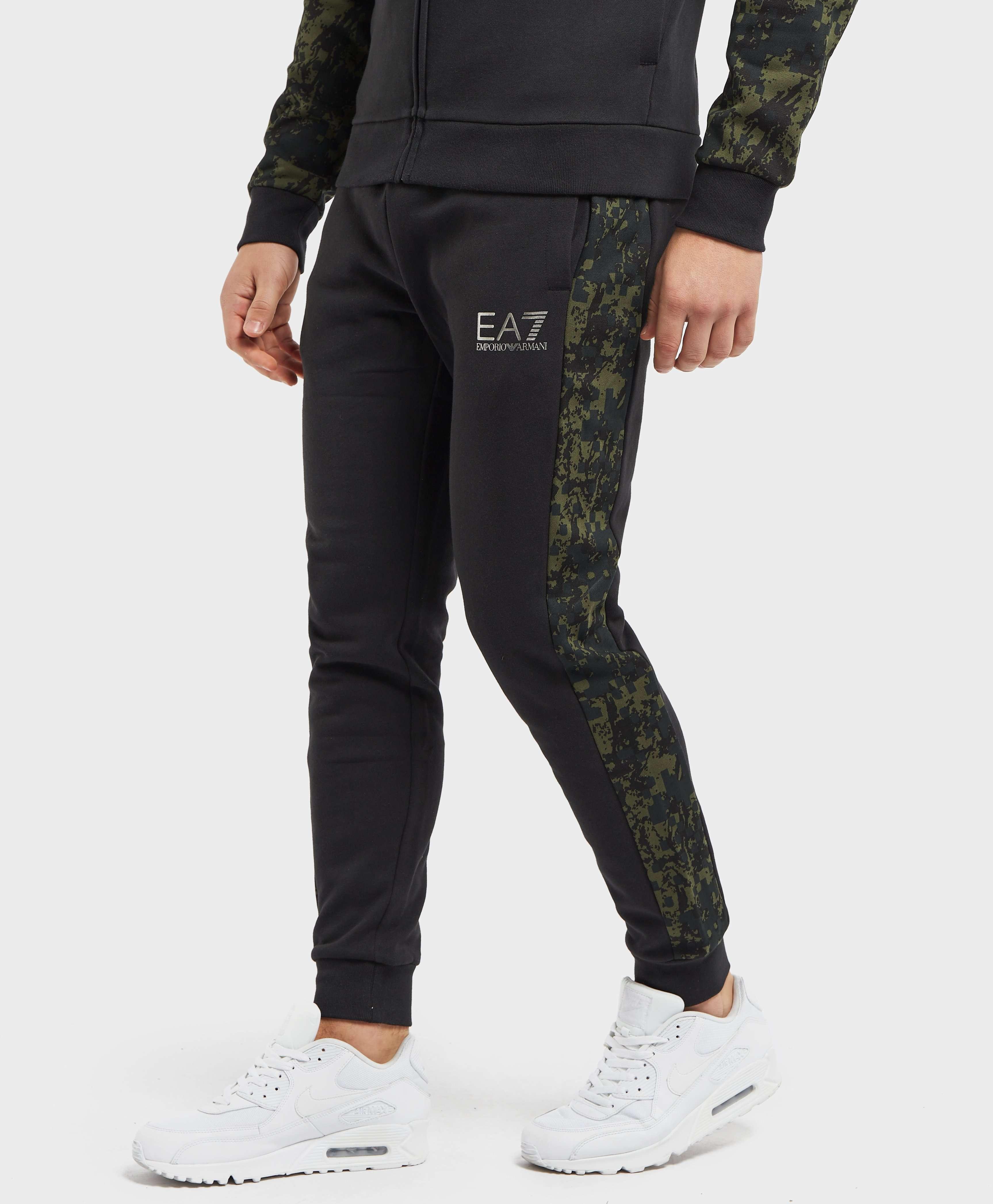 Emporio Armani EA7 Camo Colour Block Cuffed Fleece Pants