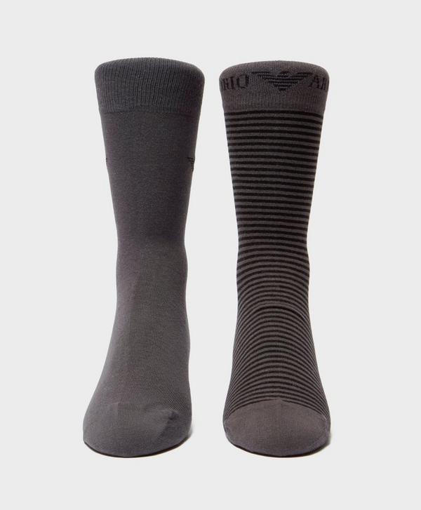 3f37be9712f Emporio Armani 2-Pack Stripe Socks