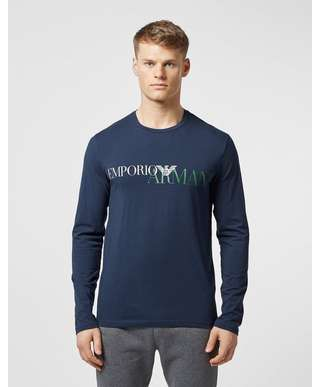 Emporio Armani Eagle Logo Long Sleeve T-Shirt