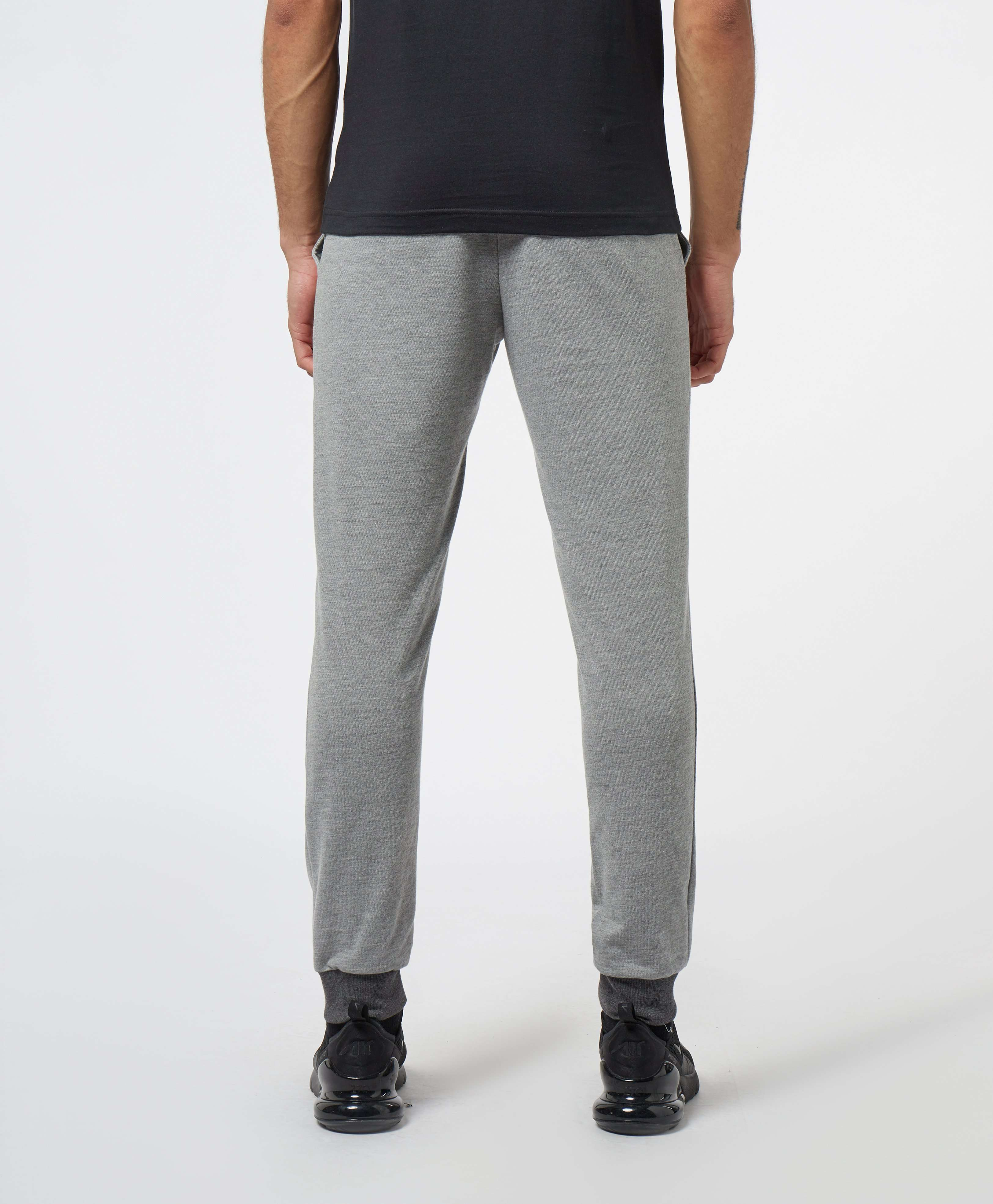 Emporio Armani Logo Cuffed Fleece Pants