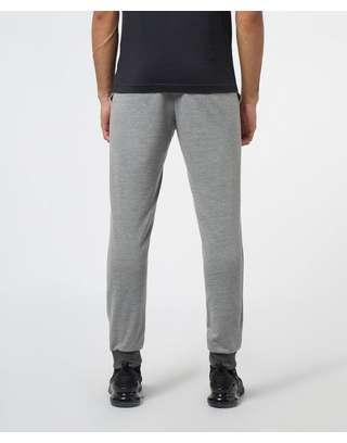 Emporio Armani Logo Cuffed Fleece Pants
